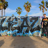 Venice Beach Graffiti (Jan 10) : It was tough to pass up a change to shoot and meet some of the guys bombing at the wall.  Although I've shot a lot of graf, I hadn't met any of the artists.  It was a shockingly diverse group of guys. Hip Hop is apparently more diverse that I already though it was...